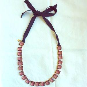 J. Crew Gemstone and Ribbon Necklace